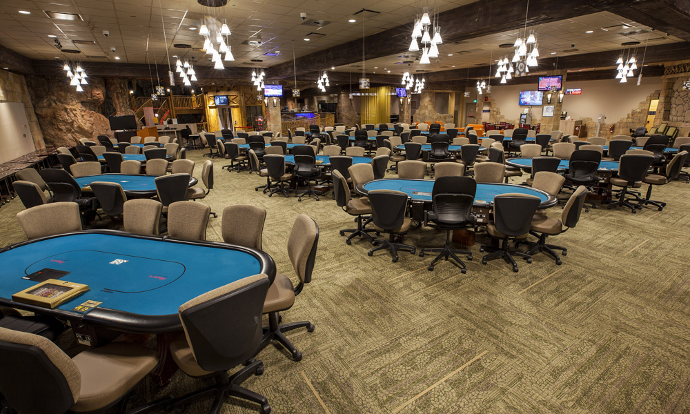 Club Regent Casino's Poker Room Poker tables picture